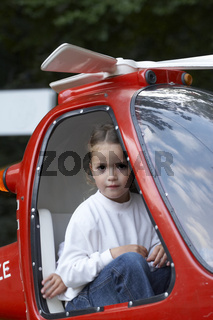 Child in helicopter