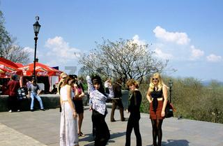 Ukraine, Odessa, women on street