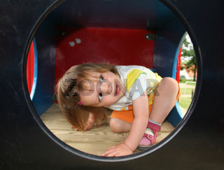 Auf dem Kinderspielplatz