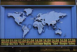 Weltkarte mit Zeitzonen
