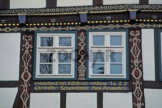 Bad Salzuflen, Fachwerkhaus-Detail