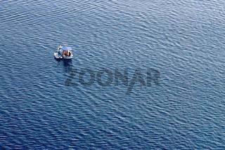 Ship floating on sea, Zadar region, Croatia