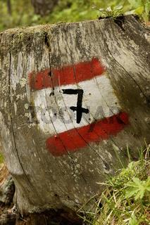 Weg Markierung hiking path marking