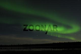 Nordlicht (Aurora borealis) bei Gaellivare, Lappland, Norrbotten, Schweden, Skandinavien, Europa