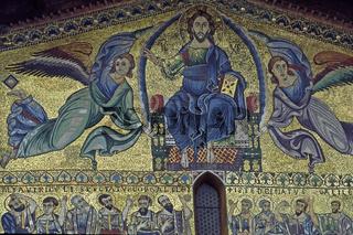 Toskana, Lucca, S. Frediano, Giebel, Mosaik