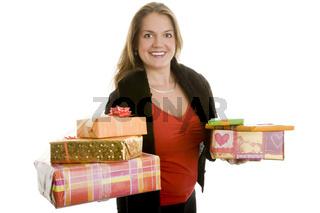 Zwei Geschenkstapel