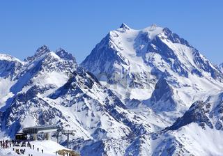 Courchevel /Ski resort Courchevel, France