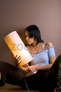woman with lamp