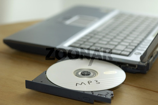 Notebook mit mp3 CD - Notebook with cd