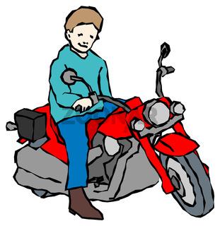 Kind mit Elektrospielfahrzeug