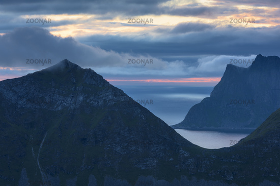 Evening mood, Vestvagoeya, Lofoten, Norway