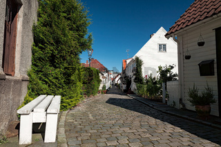 Typical houses in Stavanger, Norway