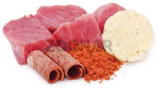 Raw beef with spices