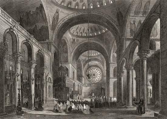 Saint Mark's Basilica, Venice, Italy, 19th century