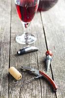 Corkscrew and cork.