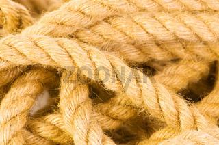 Close up of hemp rope