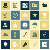 Flat design icons for business