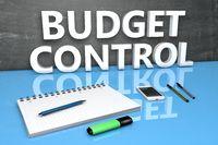 Budget Control text concept
