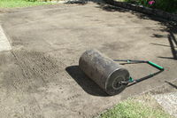 prepared ground for turf in the garden