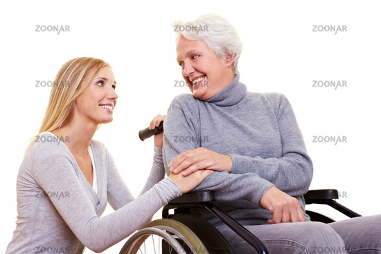 Wheelchair user with attendant