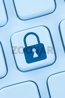 Computer Sicherheit Internet Schloss Symbol online sicher surfen