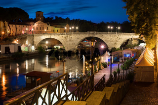 Bridge Cestio in night