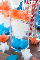 Colorful ice cubes