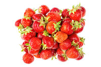 Pile of fresh and tasty strawberries