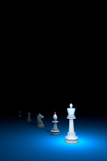 Prompt career (chess metaphor). 3D render illustration. Free space for text.