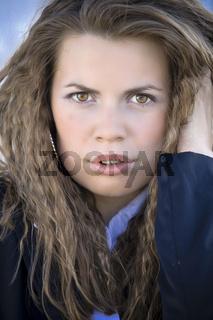 Closeup Portrait Of A Beautiful Corporate Woman