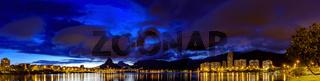 Panoramic skyline of Rio de Janeiro at night