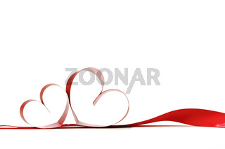 Heart shaped ribbon