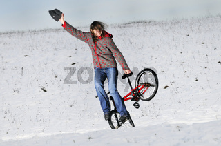 BMX Flatland im Winter, Monika Hinz