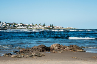 Beach in La Barra, a picturesque famous popular seaside holiday destination in Punta del Este, Uruguay