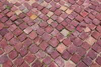 red granite pavers