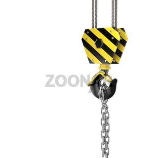 3D rendering crane hook