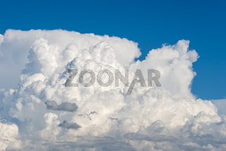 Cumulus clouds forming on a blue summer day