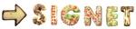 gebäck buchstaben kekse signet