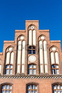 Historisches Wasstertor am Alten Hafen in Wismar - Detailaufnahme
