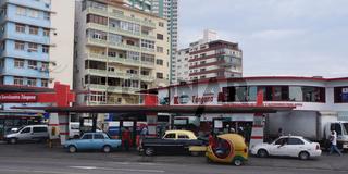 kubanische Tankstelle,Havanna,Kuba