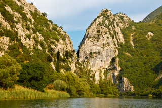 Canyon of Mountain River near Split, Croatia
