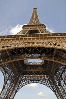 Eiffelturm von unten hoch