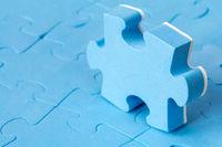 Blue jigsaw puzzle.