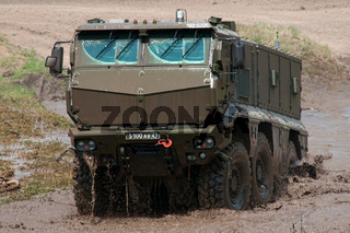 Demonstration of the capabilities of the new armored personnel carrier