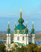 Saint Andrew church. Kiev, Ukraine