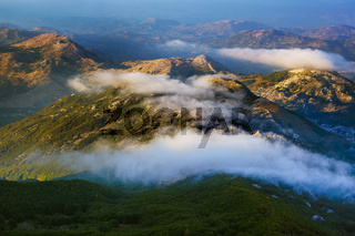 Lovcen Mountains National park at sunset - Montenegro