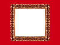 Gold frame on red