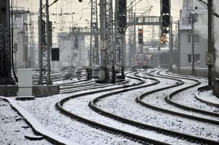 Schneefall, Hauptbahnhof in Köln, Nordrhein-Westfalen, Deutschland, Europa