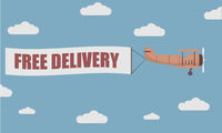 Plane Banner Free Delivery