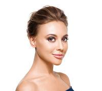 Beautiful woman with evening make-up. Fashion photo